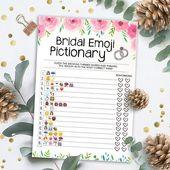 Bridal Shower Game Pictionary – Emoji Pictionary – Bridal Emoji Game – Instant Printable Digital Download – DIY Bridal Shower Printables
