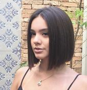 Alla moda 20 acconciature carine per capelli lisci corti | Acconciature corte e tagli di capelli | 2018-2019