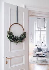 Der Adventskranz bekommt ein skandinavisches Upgrade – sooo schön!