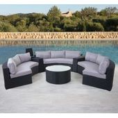 Luxus-Polyrattan-Set Savoie, Lounge-Set, Xxl rund, anthrazit …   – Products