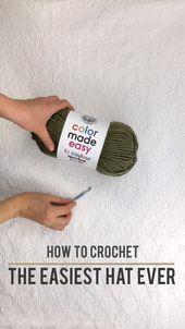 Easy Crochet Hat for Beginners – Free Pattern + Video Tutorial