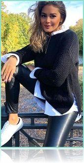 Damenbekleidung – 45 modische Winteroutfits für d…