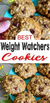 Weight Watchers Cookies – BEST WW Banana Oatmeal Chocolate Chip Cookies Recipe – Dessert – Breakfast – Treat – Snack with Smart Points