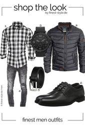 Modernes Herren-Outfit, kombiniert mit Teilen von Fossil, Blend, LLOYD, ONE MACOST … – Outfits for men – Bekleidung – Fashion