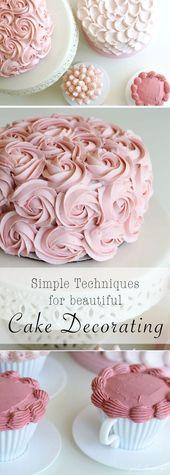 Einfache Techniken zum Tortendekorieren! – lecker – #einfach #techniques #torte …   – cake