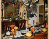 Dining Room ready for Halloween  #dekoracjenaHalloween yes.agriculturco.tk/  – DEKORACJE NA HALLOWEEN