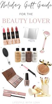 A perfectly curated holiday gift guide for the beauty lover! #giftguide #holiday…