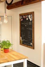Magnettafel Kreidetafel Pinnwand Holztafel magnetisch Tafelwand Vintage rustikal