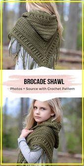 crochet The Brocade Shawl Easy pattern