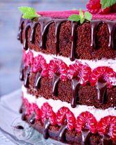 Himbeer-Schokoladen-Torte   – Torten und Kuchen