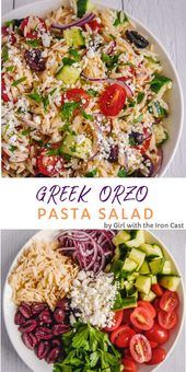 Salada Grega de Orzo   – Foodspiration