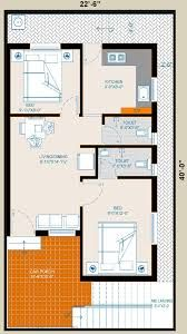 Image Result For 850 Sq Ft 2bhk House Plans 2bhk House Plan House Plans Floor Plans