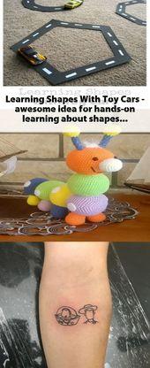 Formen lernen mit Spielzeugautos – eine großartige Idee, um Formen zum Anfassen zu lernen!   – Toy