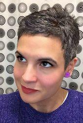247 best Short Gray Hair images on Pinterest   Pixie cuts …