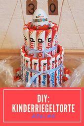 DIY kids bar cake, gift, homemade chocolate kids birthday   – Rezepte
