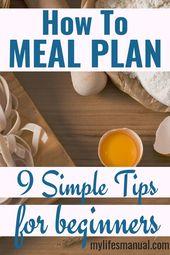 Wie man einen Speiseplan aufstellt. 9 einfache Tipps für Anfänger. Probieren Sie es mit der Planung von Mahlzeiten aus, laden Sie …   – Menu Planning