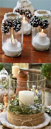27 Beautiful & Simple DIY Thanksgiving and Christmas Table Decorations