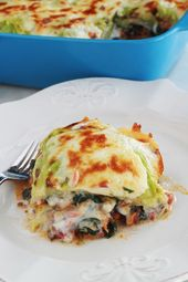 Photo of Lasagnes aux feuilles de chou et épinards (sans gluten)