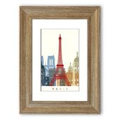 East Urban Home Framed Poster Retro Eiffel Tower in Brown / Black | Wayfair.de