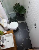 Perfekt kleine Badezimmer-Ideen mit minimalistisch…