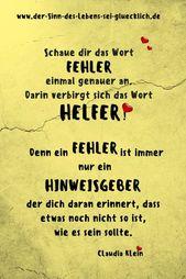 Sprüche und Zitate: # Sayings #Quotes #of SenseLife #SinndesLebens #Error    – Lernen