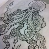 Image result for octopus tattoo, geometric,  #Geometric #geometricOctopusTattoo #Image #Octop…