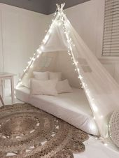 Play Tent Canopy Bed In Natural Canvas Twin Bed Tent Girl