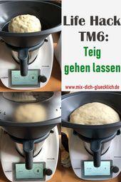 TM6 Life Hack: Teig gehen lassen im Varomabehälter.