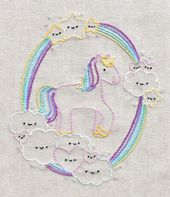 Kawaii Unicorn Dreams PDF Hand Embroidery Pattern