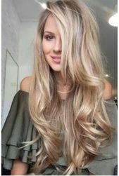 Langes Haar, langes blondes Haar, natürliche Locken, gesundes Haar   – Frisur