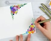 Easy Step-by-Step Watercolor Mother's Day Card – aquarell