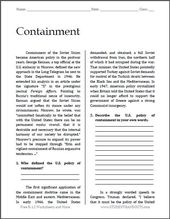 Containment – Chilly Battle Studying with Questions | Free to print (PDF file) for hig…