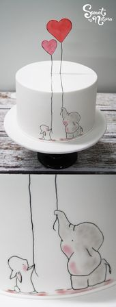 An illustration is a gorgeous way to add a quirky aspect to your engagement cake…