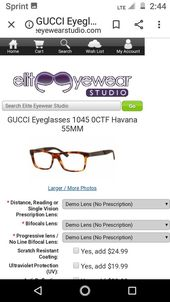 Gucci men's square eyeglass frames demostration lens only – Products