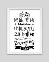 Originaldruck – Fahrrad fahren / Artprint von whiterabbit – ein Designerstück von whiterabbit-design bei DaWanda