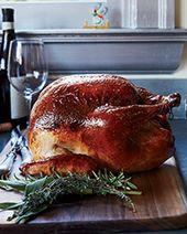 Bourbon-Glazed Turkey with Pearl Onion Giblet Gravy