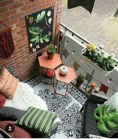 Beispiele für kleine Balkondekorationen – Mimuu.com – Diy – Kleiner Balkon