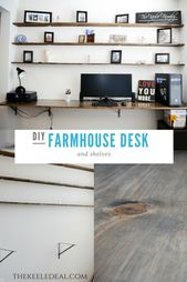 Diy Farmhouse Desk The Keele Deal Farmhouse Desk Desk Farmhouse Diy