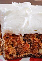 Pastel de piña y zanahoria Inas con glaseado de queso crema   – Kuchen und Cupcakes