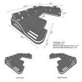 Design Sectional Sofa Detroit LED XL Shape