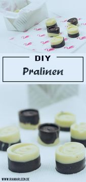 DIY Geschenkidee: Schoko Pralinen selber machen + Verpackung #diypralinen #einfa…