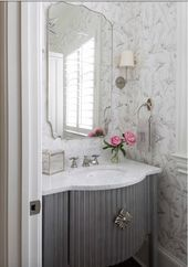 BEFORE AND AFTER POWDER ROOM AND FOYER