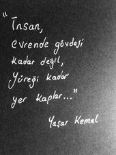 #yasar kemal #türkische Literatur # Zitat #Buchauszüge #Bücher #edebi …   – sözler☀️