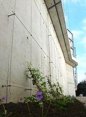 Gitterhilfe aus Edelstahlseil – Planungsbeispiele – #Beispiele #Edelstahlseil …   – Kleiner Anbau