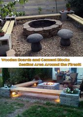 30 great DIY ideas to build a nice fireplace from a few paving stones