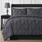 House of Hampton Bridgestone Comforter Set Size: California King Comforter + 2 King Pillow Cases, Color: Gray