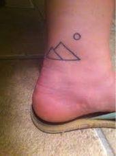 geometric mountains tattoo – Google Search
