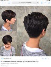 20 Einfaches kurzes Haar mit Pony #HairTypes