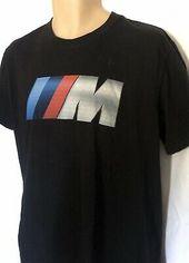 Bmw M Graphic T Shirt Soft Slim Fit Black Size L Bmw Motor Sport In 2020 Biker T Shirts Bmw Motors T Shirt