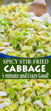 eaae78f34adee2a4dd35000ca7f01188 When you need a quick side dish, this 5 minute Spicy Stir Fried Cabbage comes in...